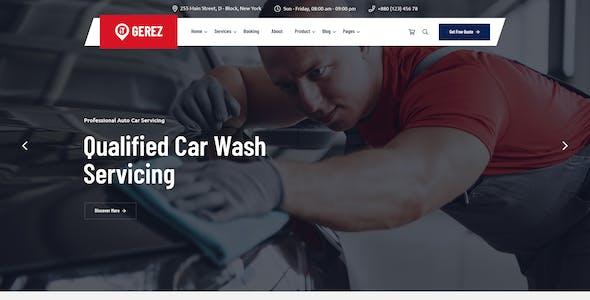 Gerez -Car Servicing PSD Template