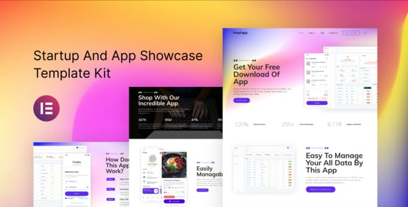 FreshApp - Startup & Showcase Elementor Template Kit