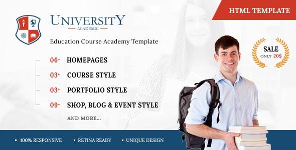 Univa - Education HTML Template - Corporate Site Templates