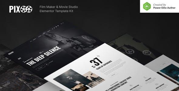 Pixoo : Film Maker & Movie Studio Elementor Template Kit