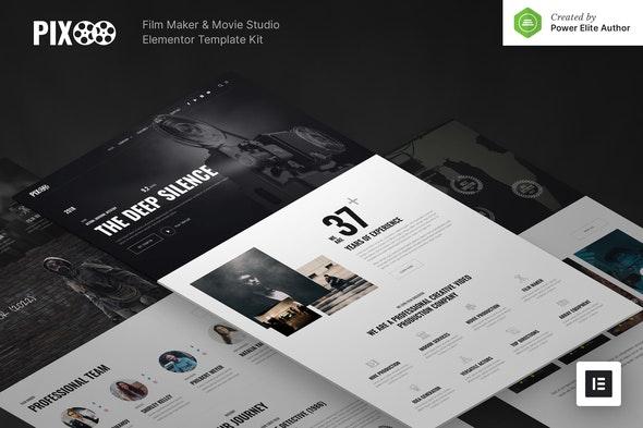 Pixoo – Film Maker & Movie Studio Elementor Template Kit - Film & TV Elementor