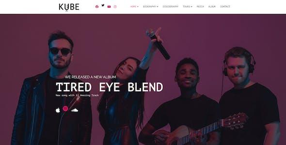 Kube - Music, Band, Dj Figma Template