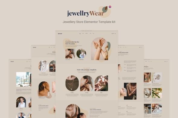 JewellryWear - Jewellery Store Elementor Template kit - Shopping & eCommerce Elementor