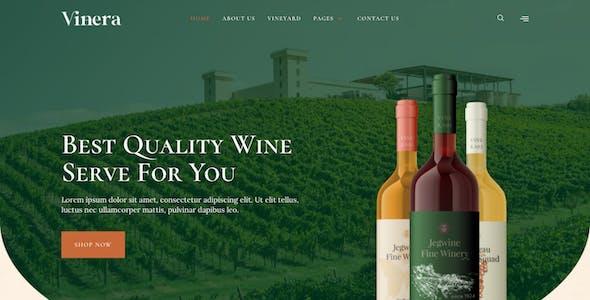 Vinera – Wine & Vineyard Elementor Template Kit
