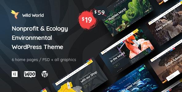 WildWorld   Nonprofit & Ecology WordPress Theme - Environmental Nonprofit