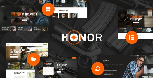 Honor | Multi-Purpose Shooting Club & Weapon Store WordPress Theme + Elementor - Retail WordPress