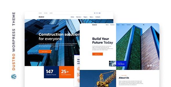Dustro – Construction Company WordPress Theme - Business Corporate