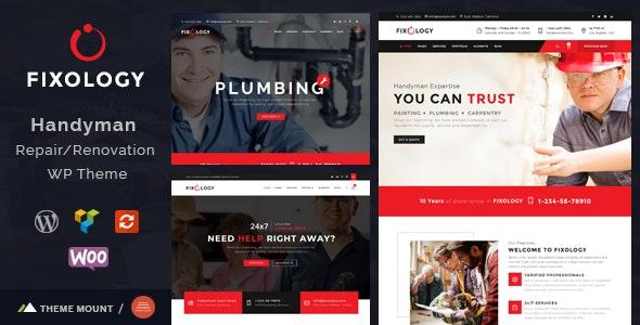 Fixology | Handyman Multi-Service WordPress Theme - Business Corporate