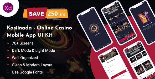 Kasiinada- Online Casino Mobile App UI Kit - Business Corporate