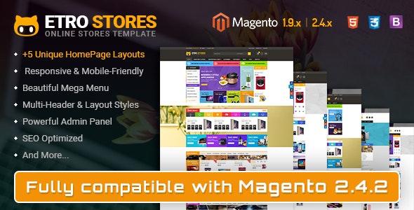 Etrostore - Multipurpose Responsive Magento 2 and 1 Theme - Shopping Magento