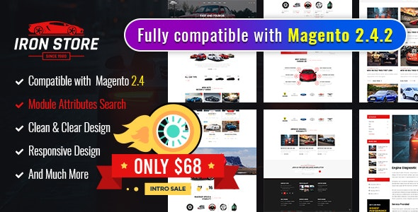 Ironstore - Best Magento 2AutoParts Theme - Magento eCommerce