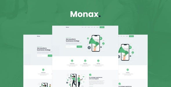 Monax - Saas & Startup Elementor Template Kit