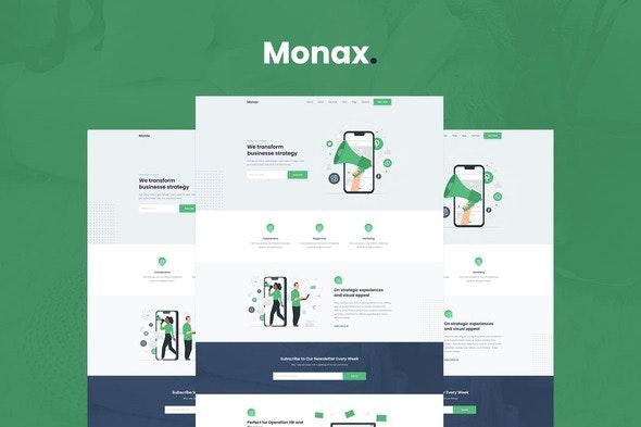 Monax - Saas & Startup Elementor Template Kit - Technology & Apps Elementor