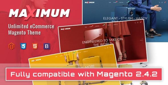 Maximum - Multipurpose Responsive Magento 2 Suitcase Store Theme - Shopping Magento