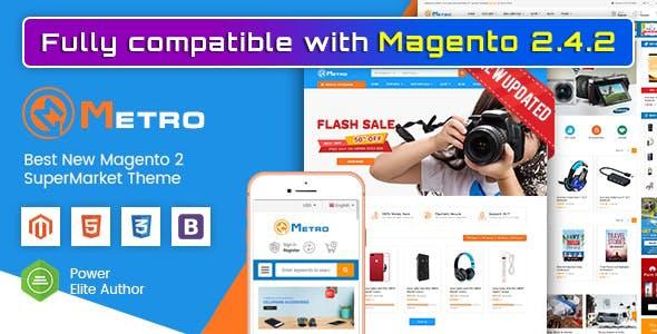 Metro - Multipurpose Responsive Magento 2 MarketPlace Theme