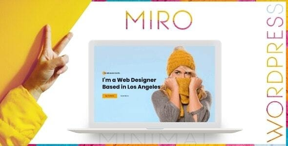Miro - Personal Portfolio WordPress Theme - Blog / Magazine WordPress