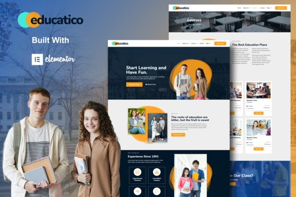 Educatico - Education School & Online Courses Elementor Template Kit - Education Elementor