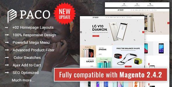 Paco - Responsive Multi-Purpose Magento 2 Theme