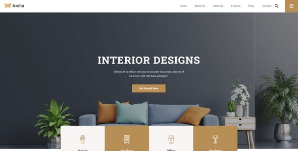 Archa - Interior Design & Architecture Elementor Template Kit