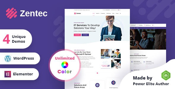 Zentec - IT Solutions Company WordPress Theme - Marketing Corporate