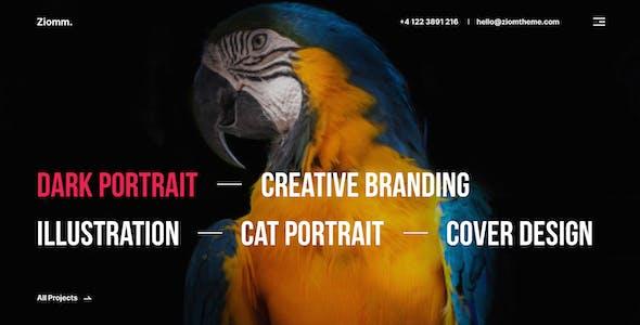 Ziomm - Creative Agency & Portfolio Figma Template