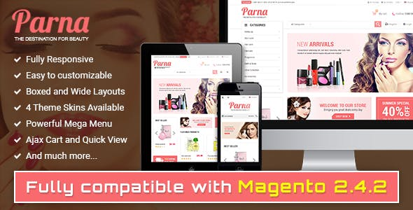 Parna - Responsive Multi-purpose Magento 1 and 2 Theme
