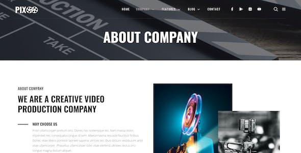 Pixoo – Film Maker & Movie Studio Elementor Template Kit