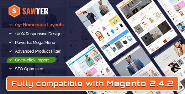 Sawyer - Multipurpose Responsive Magento 2 and 1.9 Theme