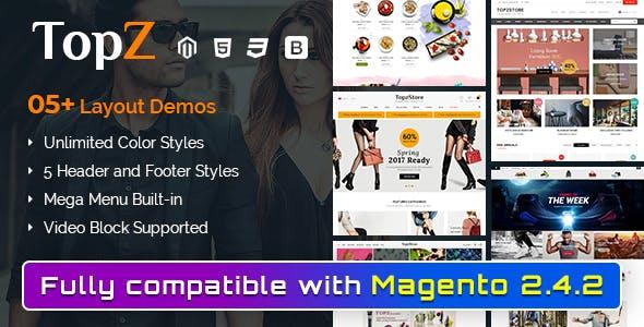 TopzStore - Advanced Responsive Magento 2 Theme