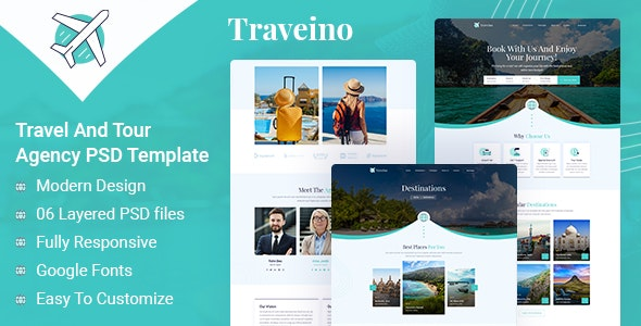 TRAVEINO - Travel PSD - Business Corporate