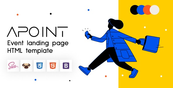 Apoint - HTML5 Event Website Template Landing Page - Events Entertainment