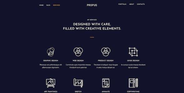 Propus — Web Designer Portfolio Elementor Template Kit