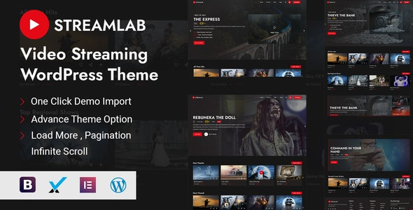 Streamlab - Video Streaming WordPress Theme - Film & TV Entertainment