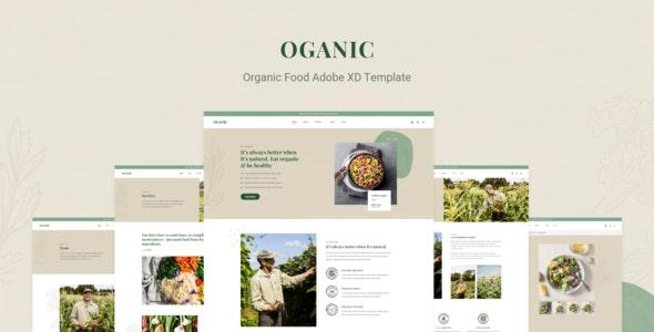 Oganic - Organic Food Adobe XD Template - Food Retail