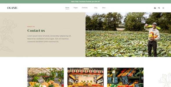 Oganic - Organic Food Adobe XD Template