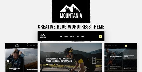 Mountania - Creative Blog WordPress Theme - Personal Blog / Magazine