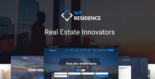 Residence Real Estate WordPress Theme - Real Estate WordPress