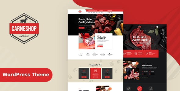 CarneShop - Butcher & Meat Shop WordPress Theme + RTL