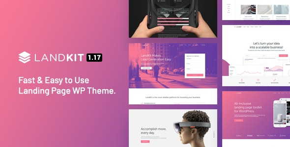 Landkit - WordPress Landing Page Theme - Marketing Corporate