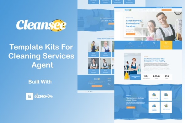 Cleansee - Cleaning Service Elementor Template Kit - Business & Services Elementor