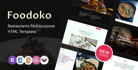 Foodoko - Restaurants Directory Multipurpose HTML Template, Food Delivery
