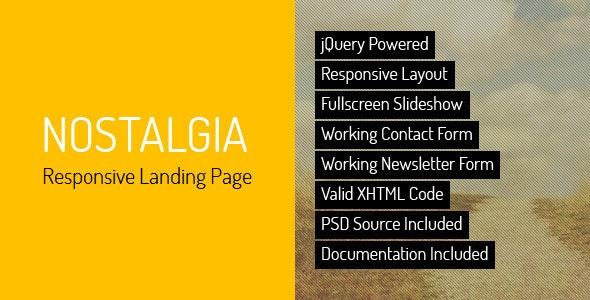 Nostalgia - Responsive Landing Page - Creative Landing Pages