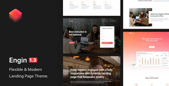 Engin - Multipurpose Landing Page WordPress Theme - Marketing Corporate