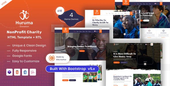 Huruma - Charity Foundation HTML Template