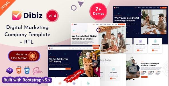 Dibiz - Digital Marketing Company HTML Template - Marketing Corporate