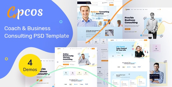 Coach & Business Consulting PSD Template - Corporate Photoshop