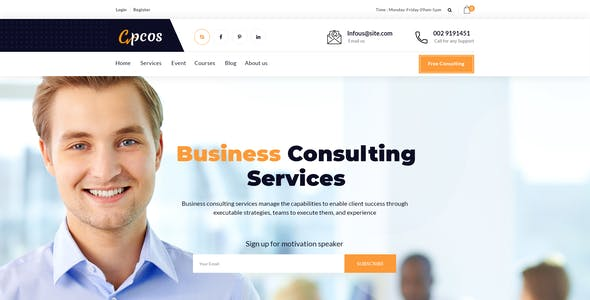 Coach & Business Consulting PSD Template