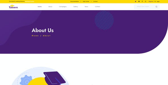 Taleem - LMS and Online Education PSD Template