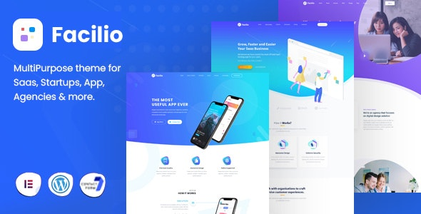 Facilio - MultiPurpose WordPress Theme for Saas Startup - Software Technology