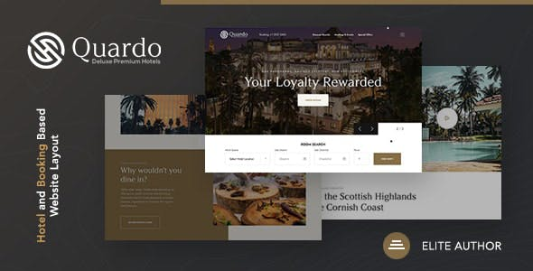 Quardo   Deluxe Premium Hotels Joomla Template